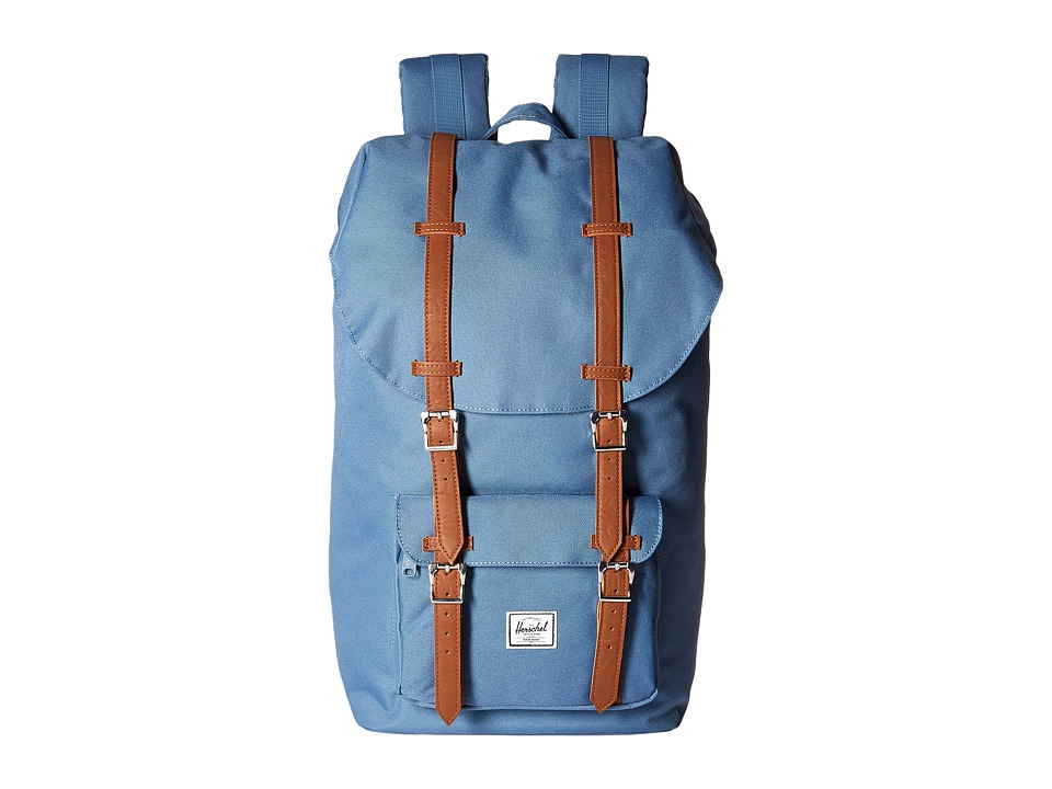 Herschel Supply Co. Little America Captains Blue/Tan Synthetic Leather Backpack Bags