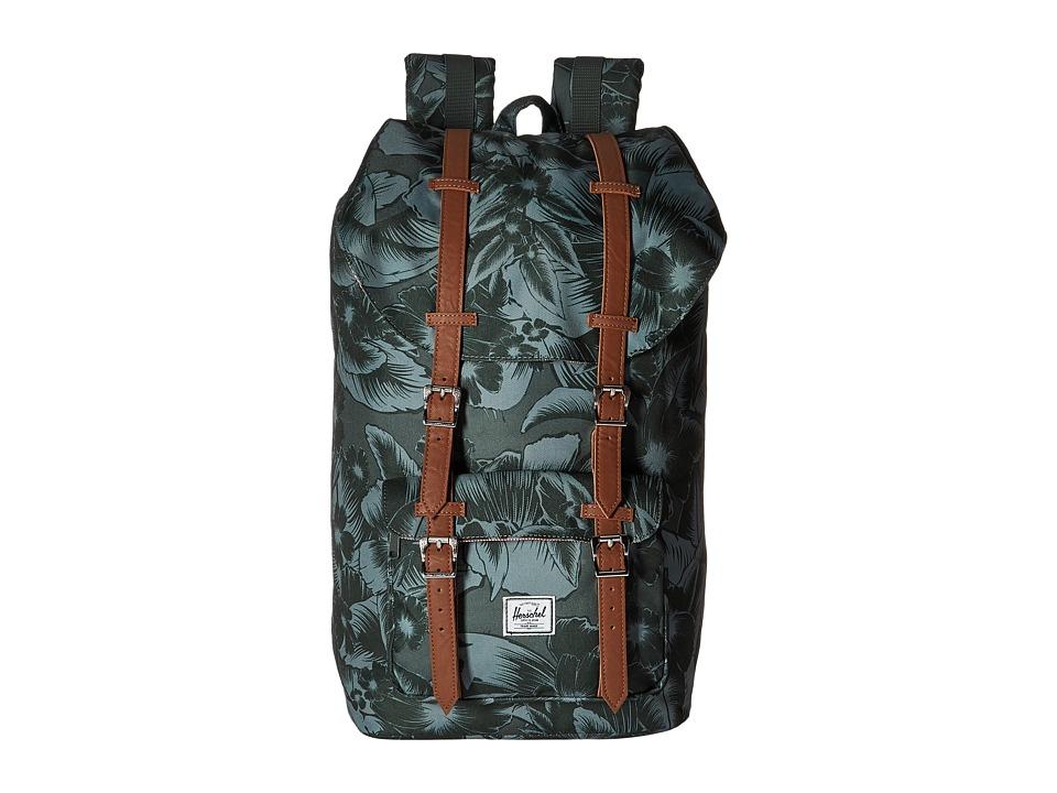 Herschel Supply Co. Little America Jungle Floral Green Backpack Bags