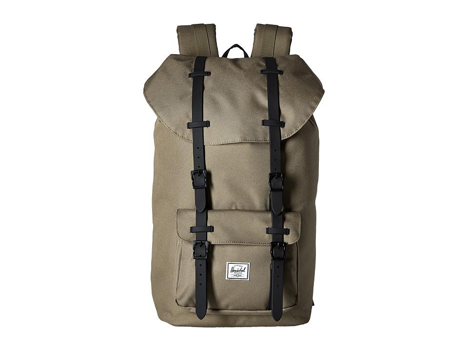 Herschel Supply Co. Little America Lead Green/Black Rubber Backpack Bags