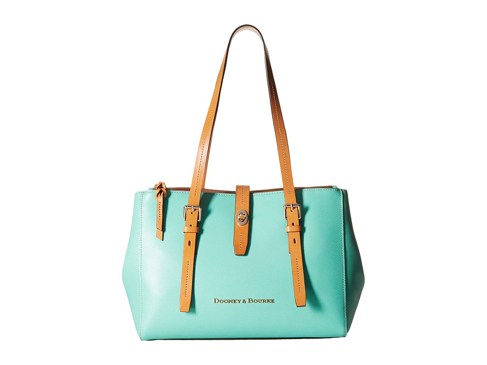 Dooney & Bourke - Claremont Miller Shopper (Sea Foam w/ Butterscotch Trim) Tote Handbags
