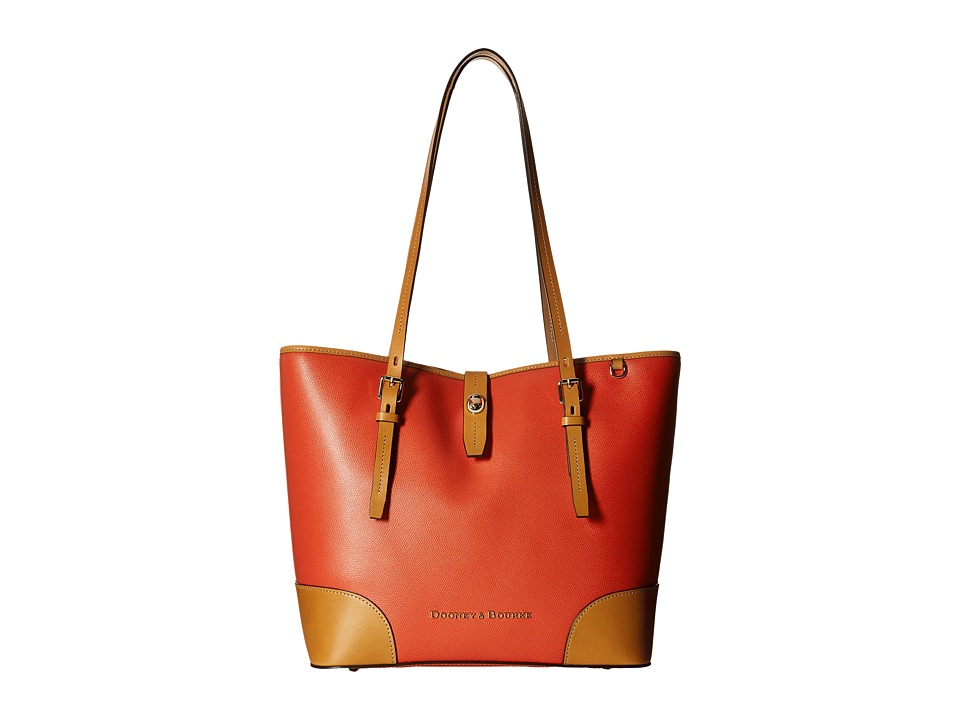 Dooney amp Bourke Claremont Dover Tote Geranium w/ Butterscotch Trim Tote Handbags
