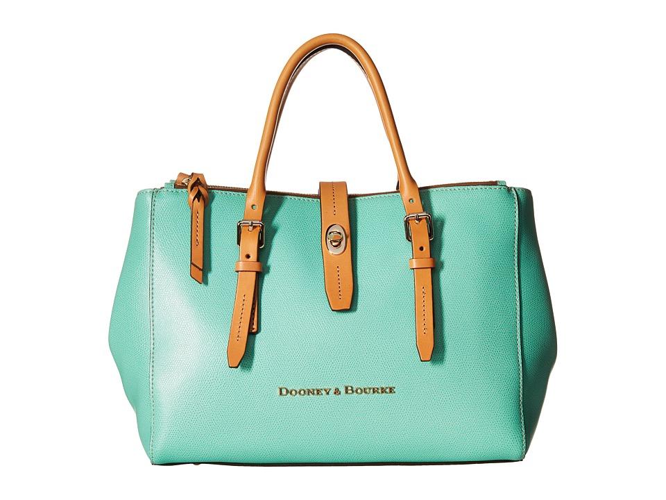 Dooney & Bourke - Claremont Miller Satchel (Sea Foam w/ Butterscotch Trim) Satchel Handbags
