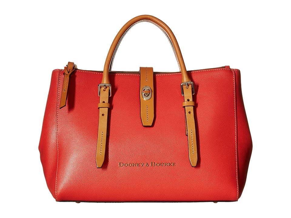 Dooney amp Bourke Claremont Miller Satchel Geranium w/ Butterscotch Trim Satchel Handbags