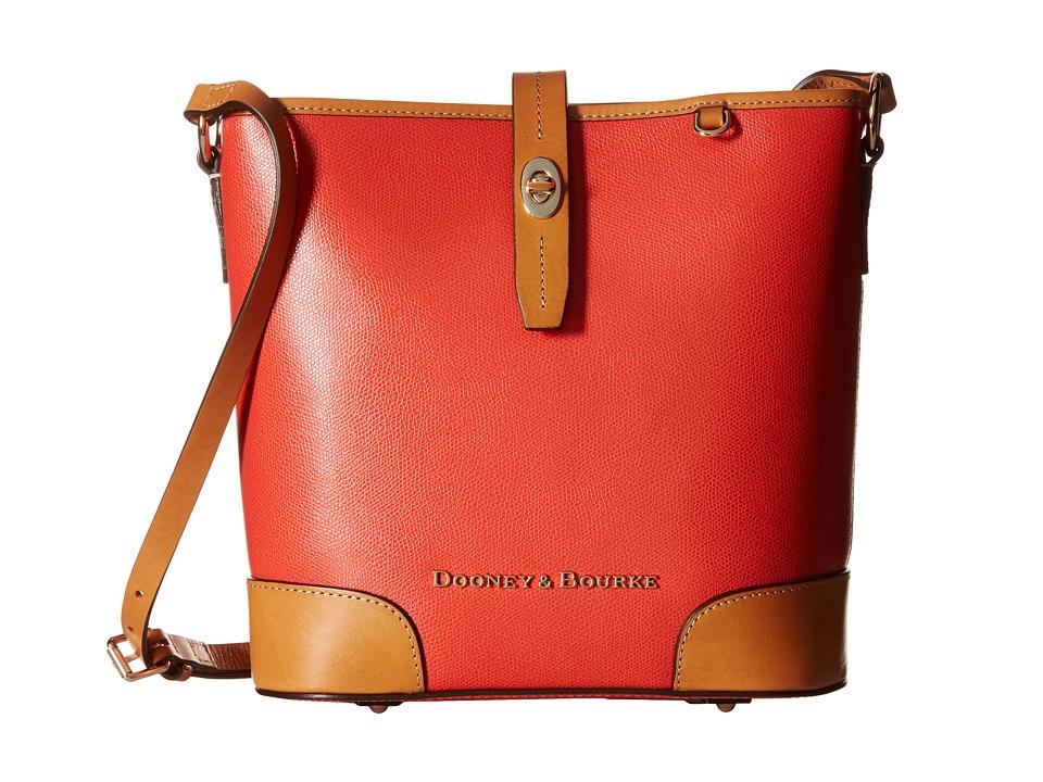 Dooney & Bourke - Claremont Crossbody Bucket (Geranium w/ Butterscotch Trim) Cross Body Handbags