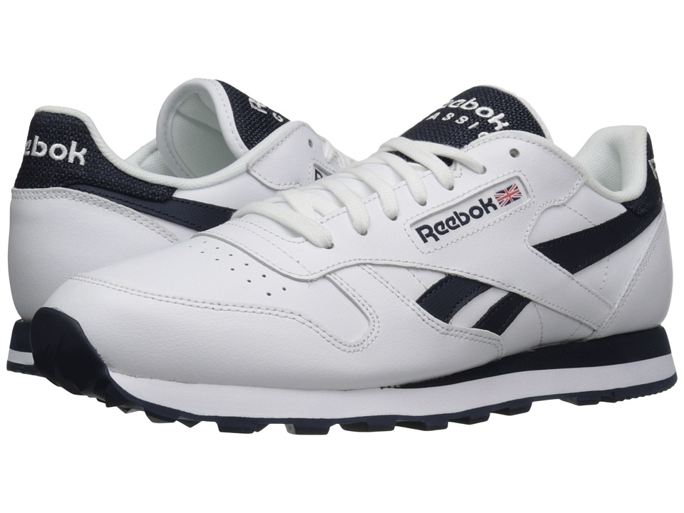 Reebok Lifestyle Classic Leather Pop SC White/Collegiate Navy Mens Classic Shoes