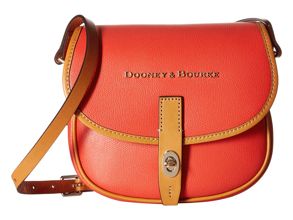 Dooney & Bourke - Claremont Field Bag (Geranium w/ Butterscotch Trim) Cross Body Handbags