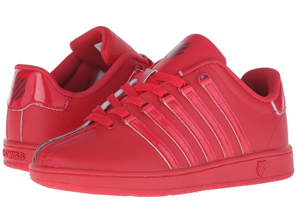K Swiss Kids Classic VN Big Kid Red Ribbon/Merlot Leather Kids Shoes