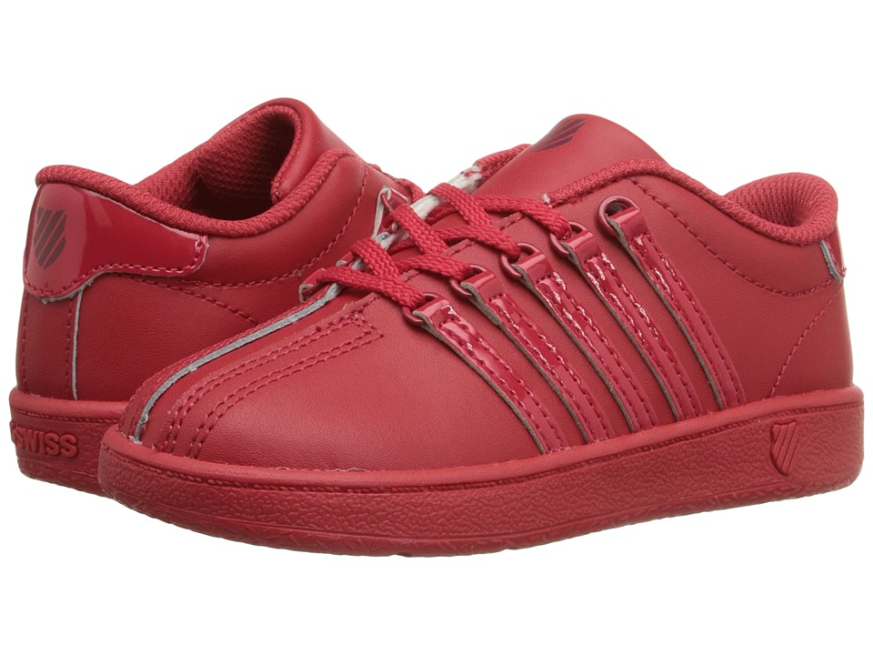 K Swiss Kids Classic VN Infant/Toddler Red Ribbon/Merlot Leather Kids Shoes