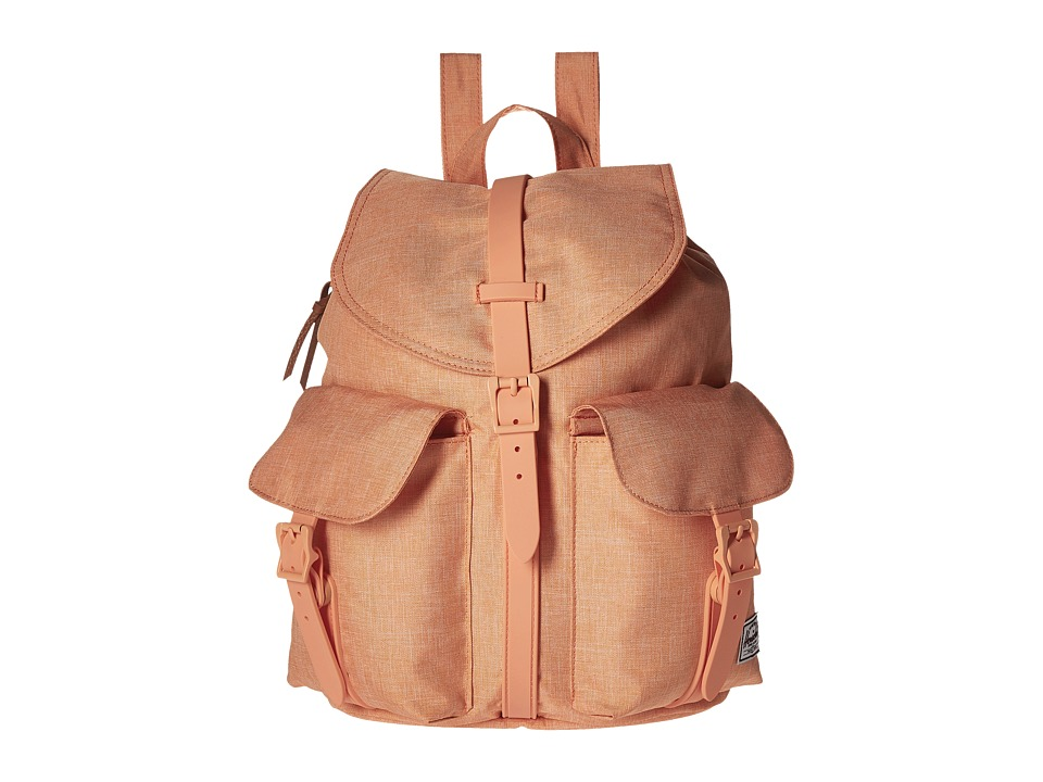 Herschel Supply Co. Dawson Nectarine Crosshatch Rubber Bags