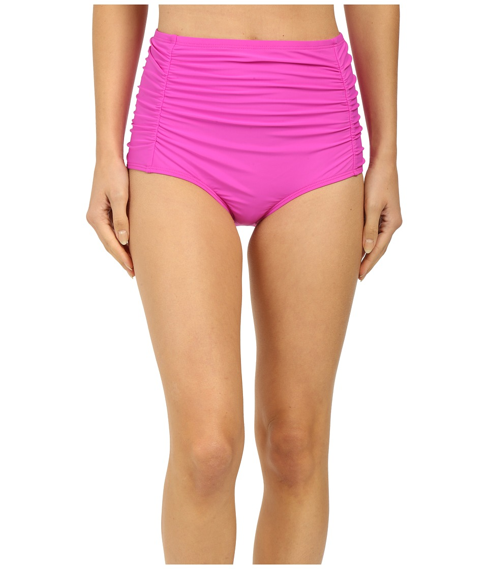Athena Cabana Solids High Waist Bottom Raspberry Womens Swimwear