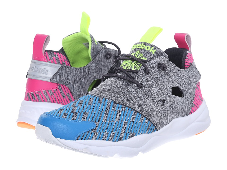 Reebok Lifestyle - Furylite Contemporary (Electric Blue/Coal/Dynamic Pink/Electric Peach/Yellow) Womens Shoes