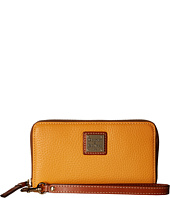 Dooney & Bourke - Pebble Zip Around Credit Card Phone Wristlet