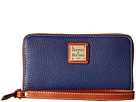 Dooney & Bourke Pebble Zip Around Credit Card Phone Wristlet