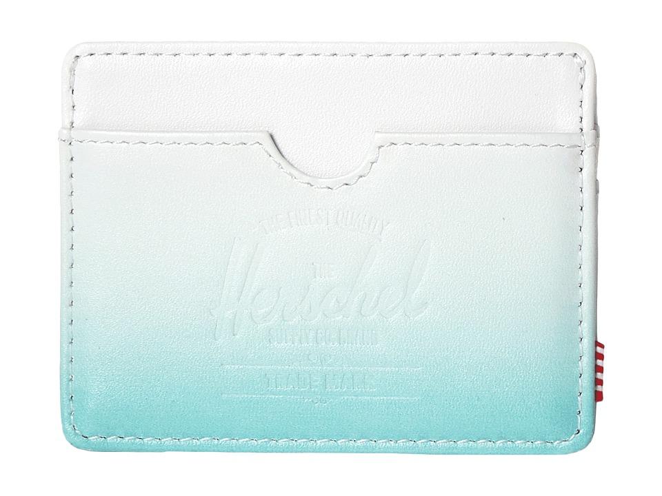 Herschel Supply Co. Charlie White/Aqua Gradient Credit card Wallet