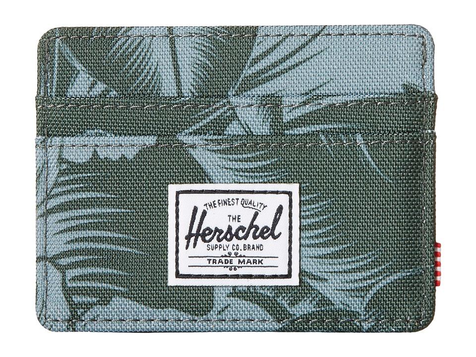 Herschel Supply Co. Charlie Jungle Floral Green Credit card Wallet
