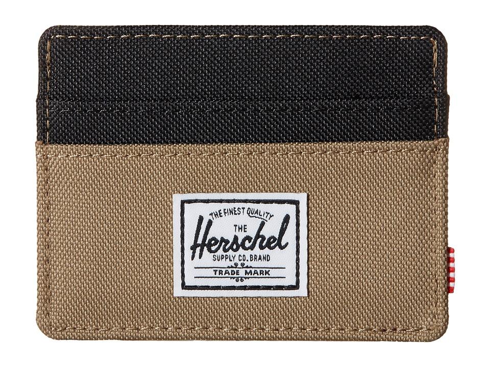 Herschel Supply Co. Charlie Lead Green/Black Credit card Wallet