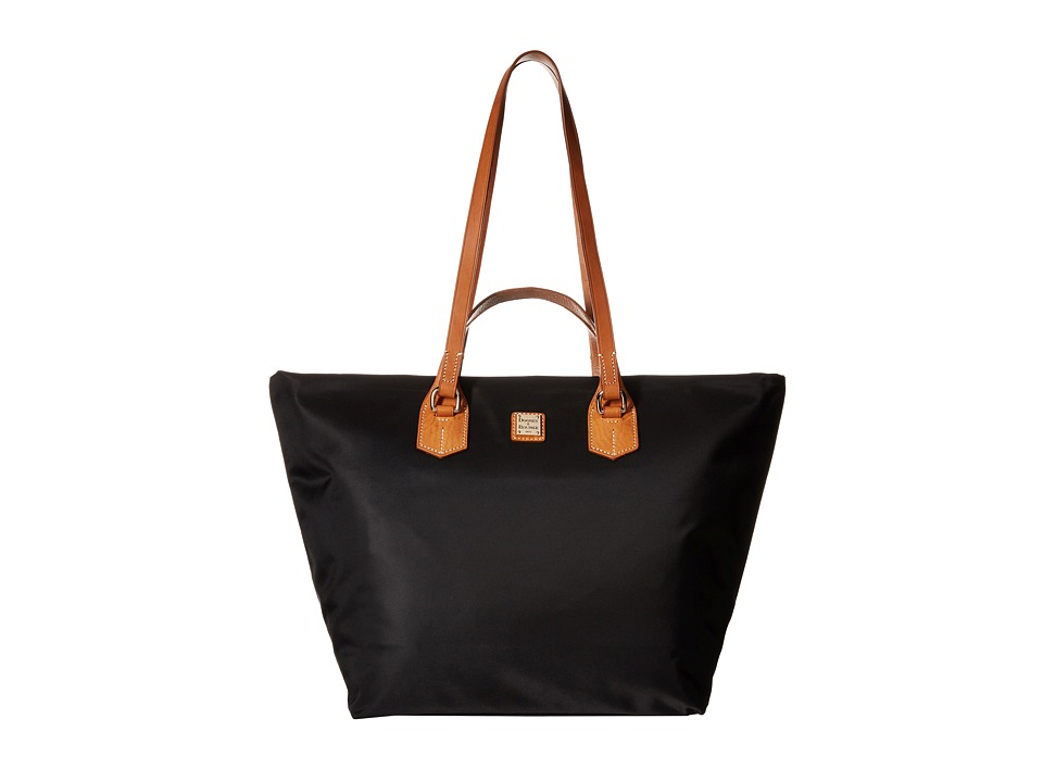 Dooney & Bourke - Windham Extra Large Leighton Tote (Black w/ Natural Trim) Tote Handbags