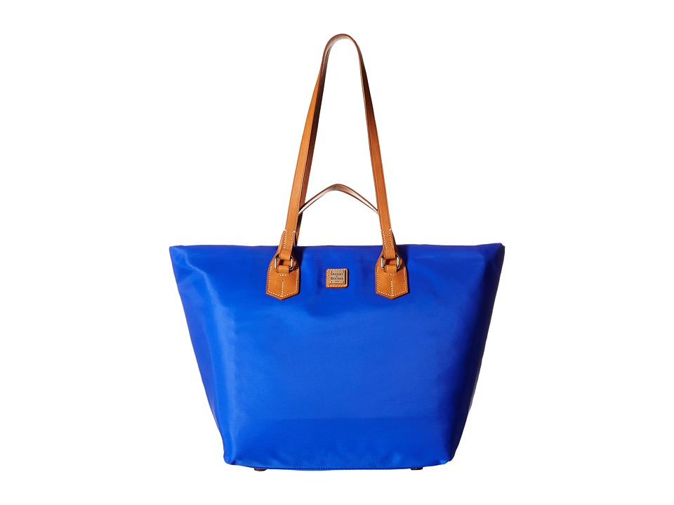 Dooney & Bourke - Windham Extra Large Leighton Tote (French Blue w/ Natural Trim) Tote Handbags
