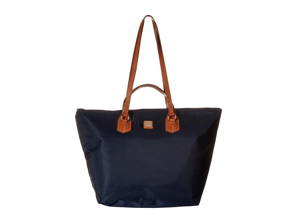 Dooney & Bourke - Windham Extra Large Leighton Tote (Navy w/ Natural Trim) Tote Handbags