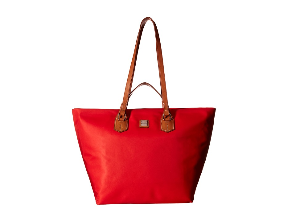 Dooney & Bourke - Windham Extra Large Leighton Tote (Red w/ Natural Trim) Tote Handbags