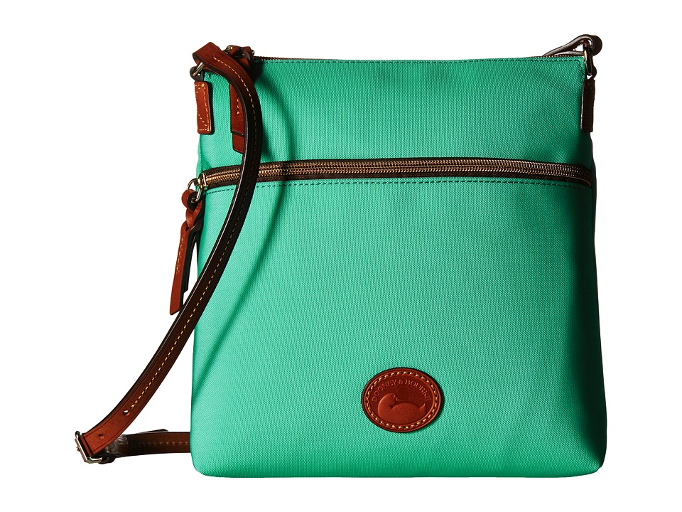 Dooney amp Bourke Nylon Crossbody Mint w/ Tan Trim Cross Body Handbags
