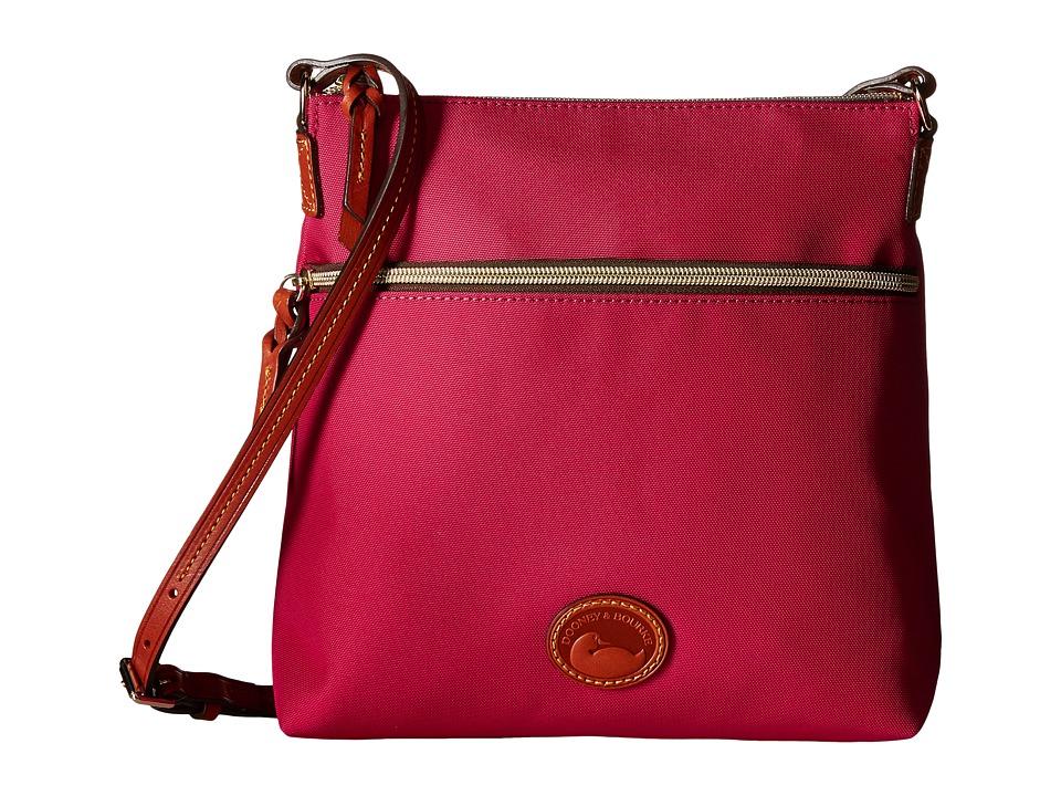 Dooney amp Bourke Nylon Crossbody Pink w/ Tan Trim Cross Body Handbags