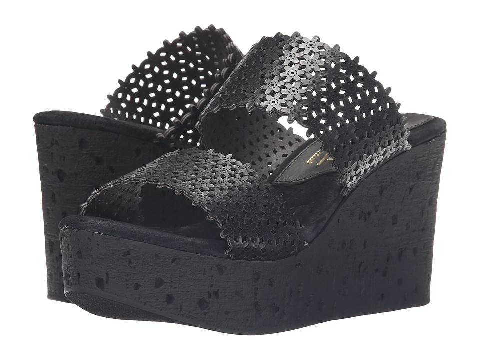 Sbicca Romia Black Womens Wedge Shoes