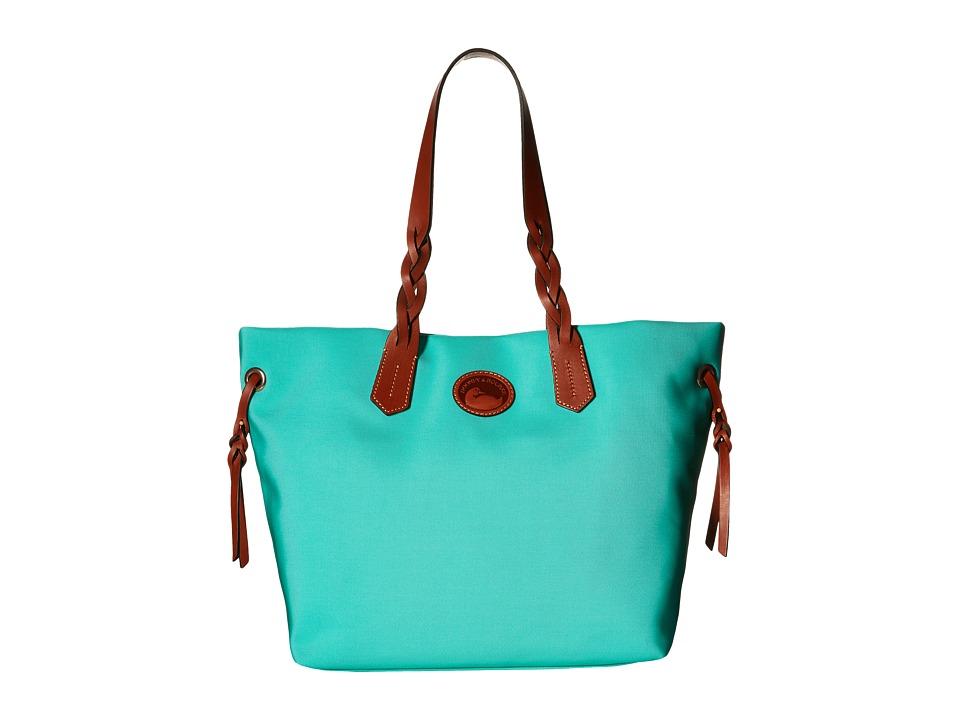 Dooney amp Bourke Nylon Shopper Mint w/ Tan Trim Tote Handbags