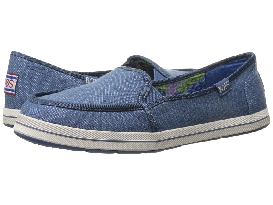 BOBS from SKECHERS Bobs Flexy Spring Back Denim Womens Slip on Shoes