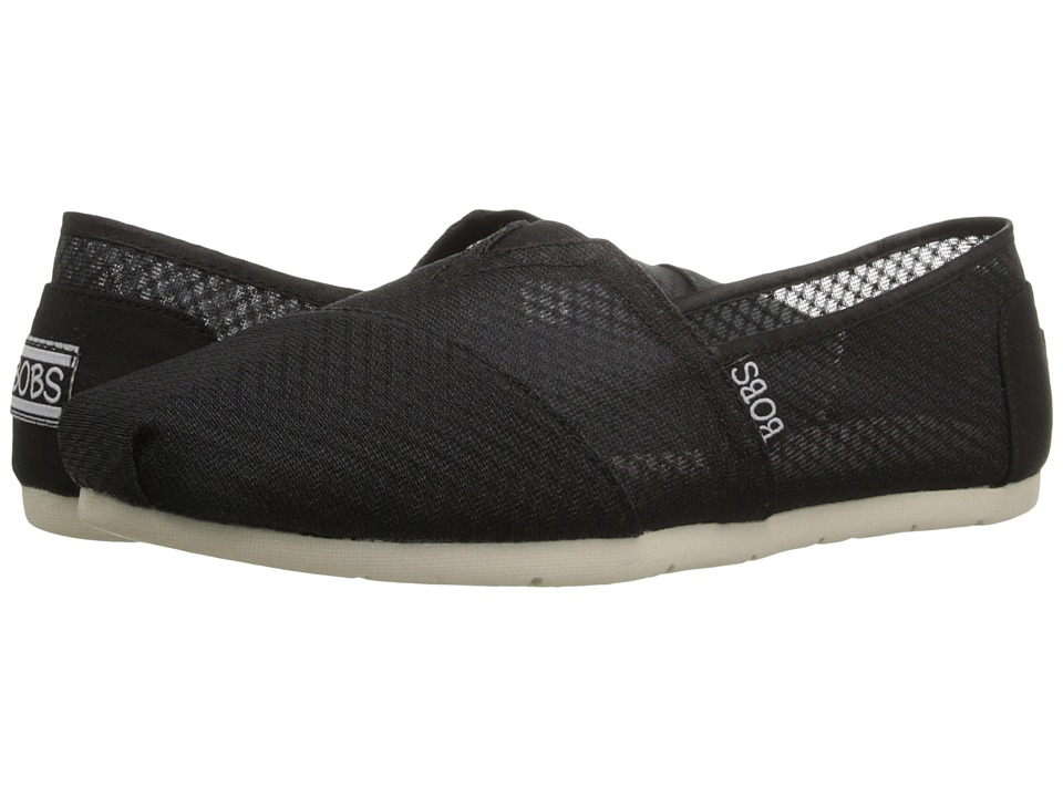 BOBS from SKECHERS Luxe Bobs Star Gazer Black Womens Shoes