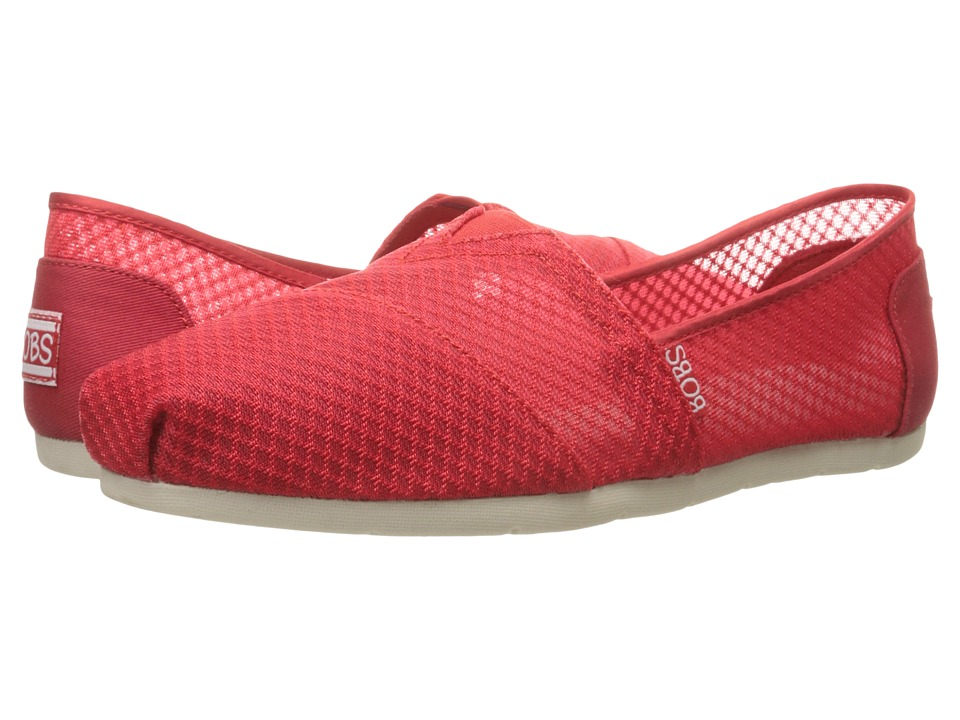 BOBS from SKECHERS Luxe Bobs Star Gazer Red Womens Shoes