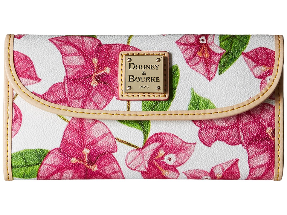 Dooney amp Bourke Bougainvillea Continental Clutch Fuchsia w/ Natural Trim Clutch Handbags