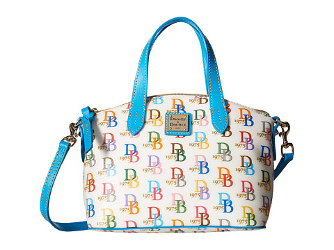 Dooney & Bourke Ruby Bag Multi DB75 - White w/ Turquoise Trim