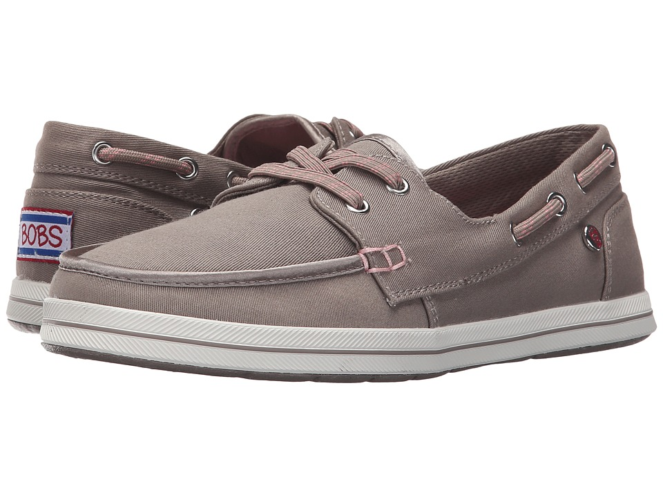 BOBS from SKECHERS Bobs Flexy Sea Legs Taupe Womens Lace up casual Shoes