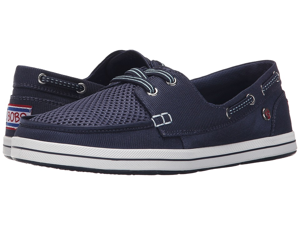 BOBS from SKECHERS Bobs Flexy High Tide Navy Womens Lace up casual Shoes