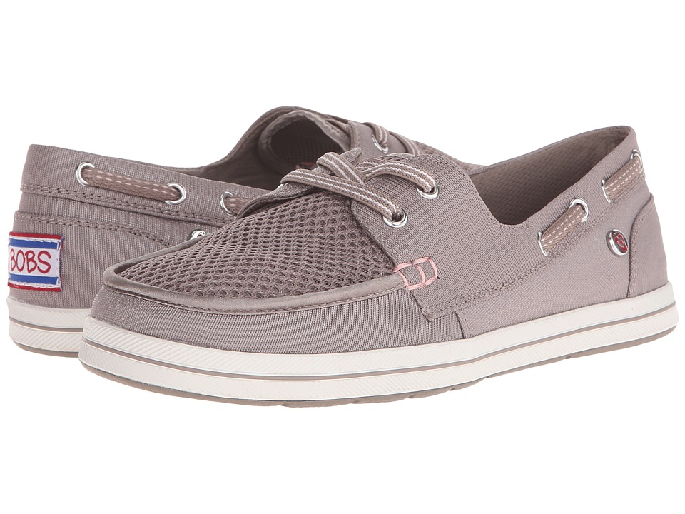 BOBS from SKECHERS Bobs Flexy High Tide Taupe Womens Lace up casual Shoes