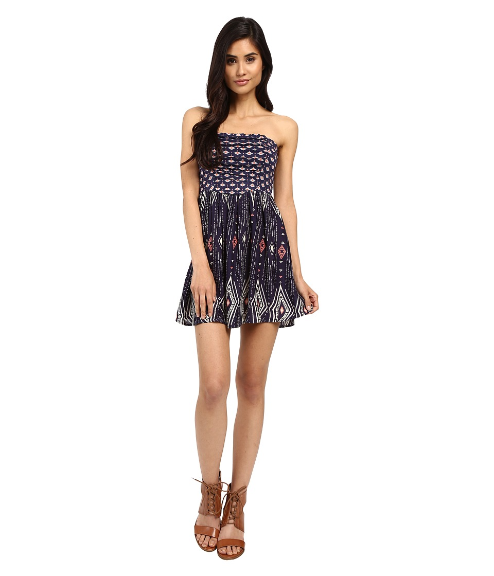 Roxy Double Dose Dress Geo Carpet Combo/Eclipse Womens Dress