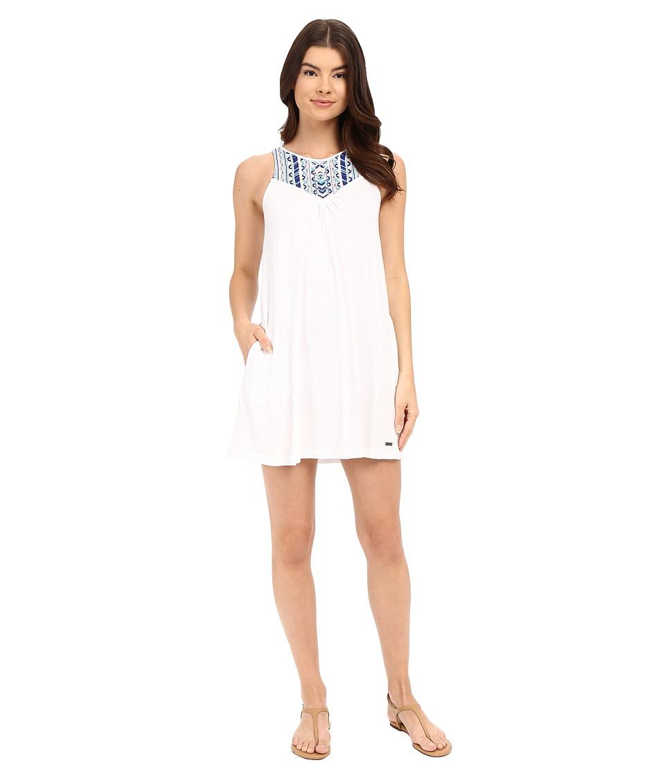 Roxy Eastshore Dress Bright White Womens Dress