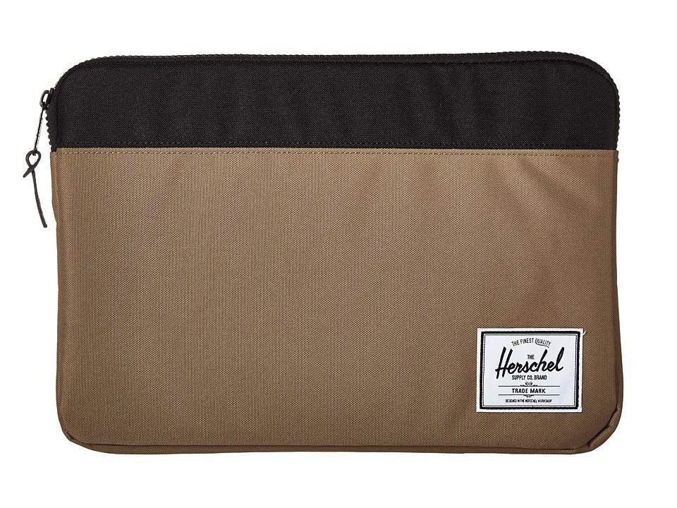 Herschel Supply Co. - Anchor Sleeve 15 (Lead Green/Black) Computer Bags