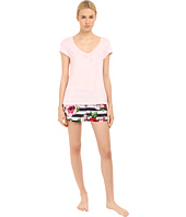 Kate Spade New York - Knit Top w/ Woven Bottom Shorts PJ