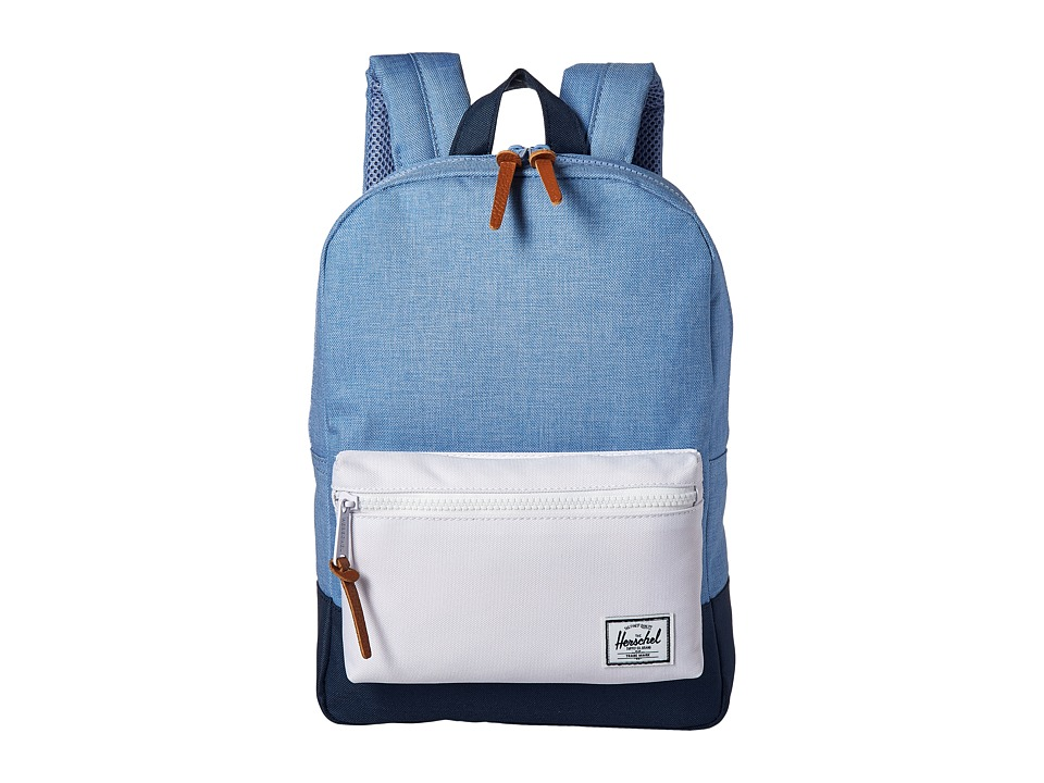 Herschel Supply Co. Heritage Kids Chambray/Navy/White/Navy Rubber Backpack Bags