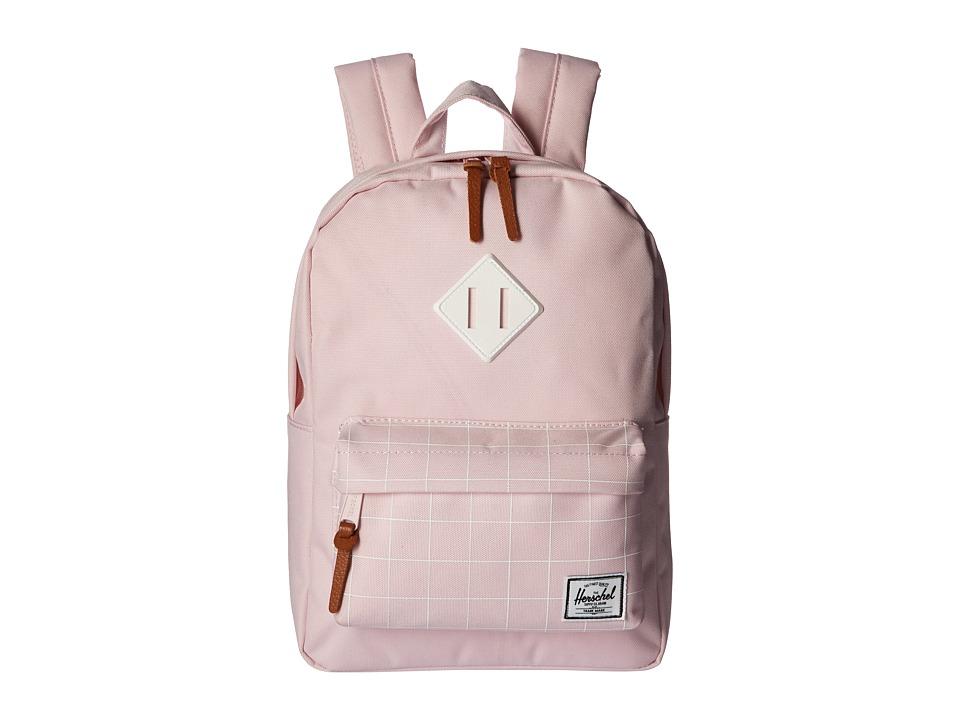 Herschel Supply Co. Heritage Kids Ballerina Pink Grid/Ballerina Pink/White Rubber Backpack Bags