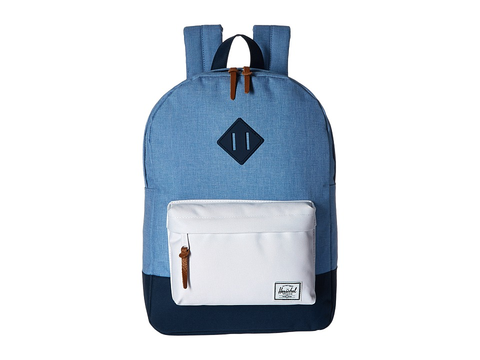 Herschel Supply Co. Heritage Youth Chambray/Navy/White/Navy Rubber Backpack Bags