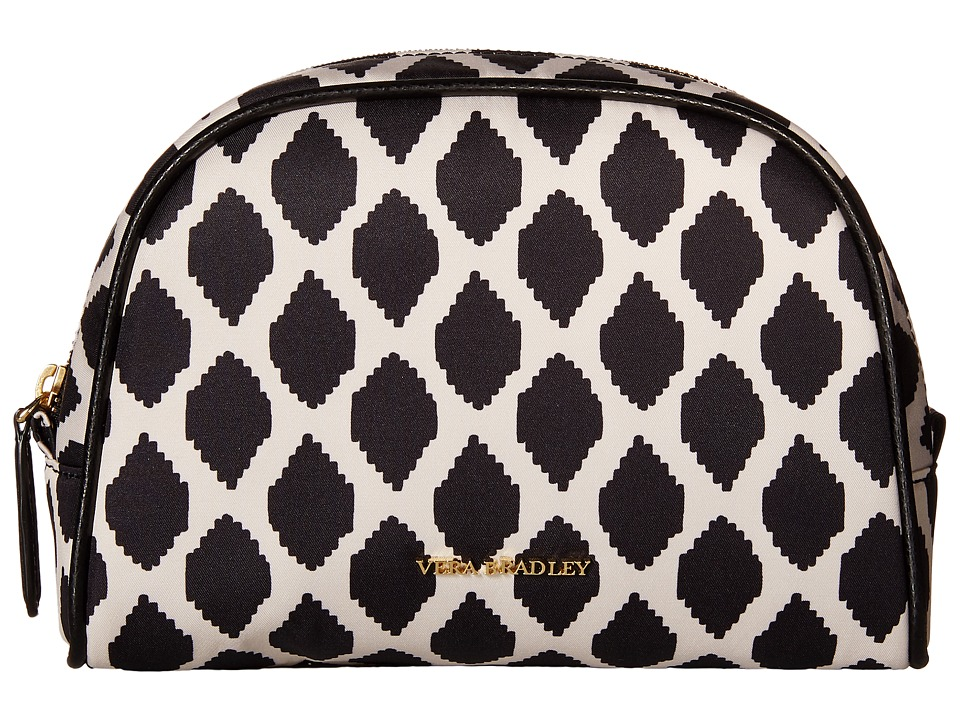 Vera Bradley Luggage Medium Zip Cosmetic Ikat Spots/Black Cosmetic Case