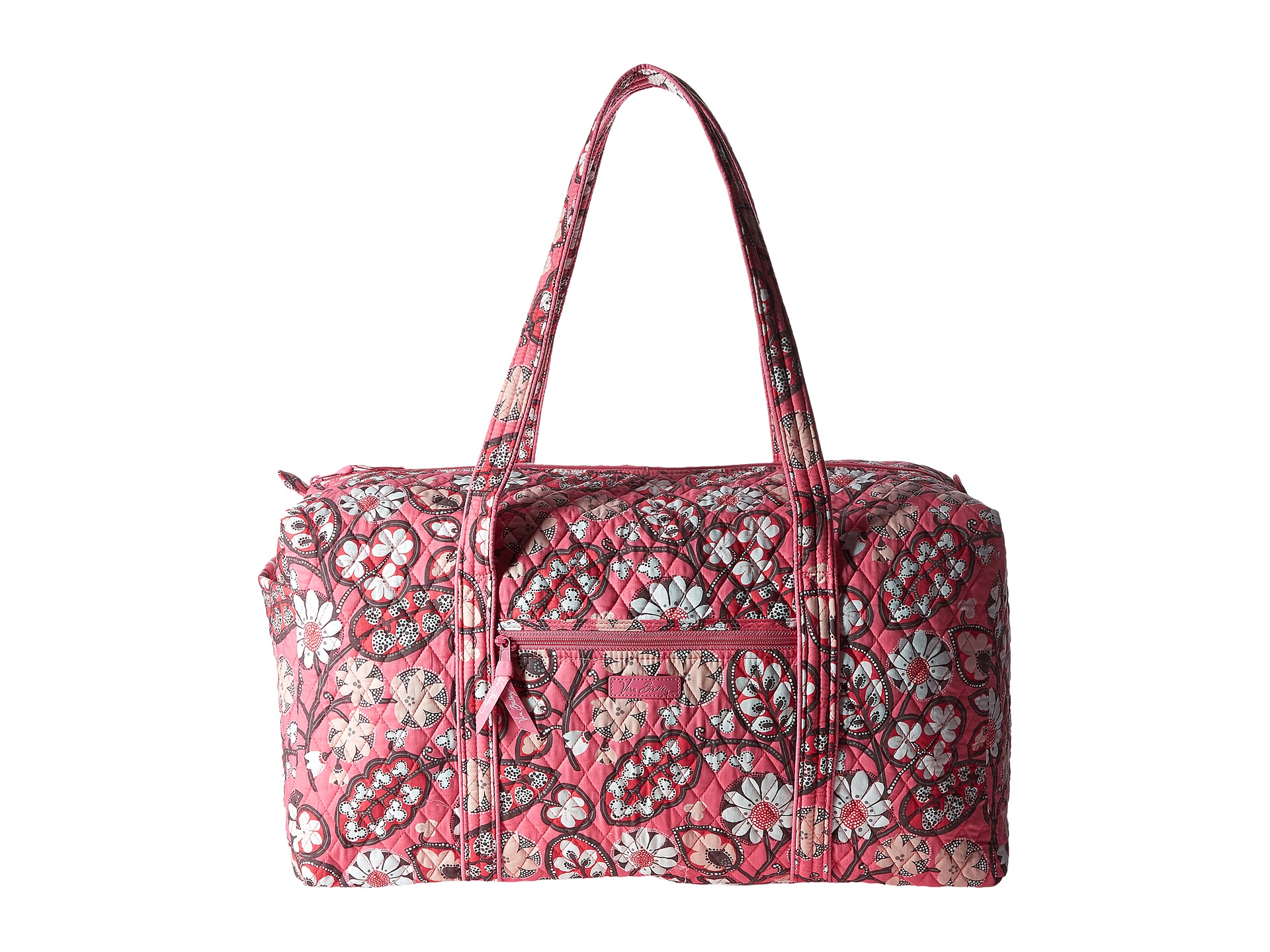 Beauty and ingenuity are crafted into every Vera Bradley® piece, adding brightness, fun, and functionality wherever you go. Step on the stage mod style with the bold Iconic Small Vera Tote.; Made of lightweight polyester.