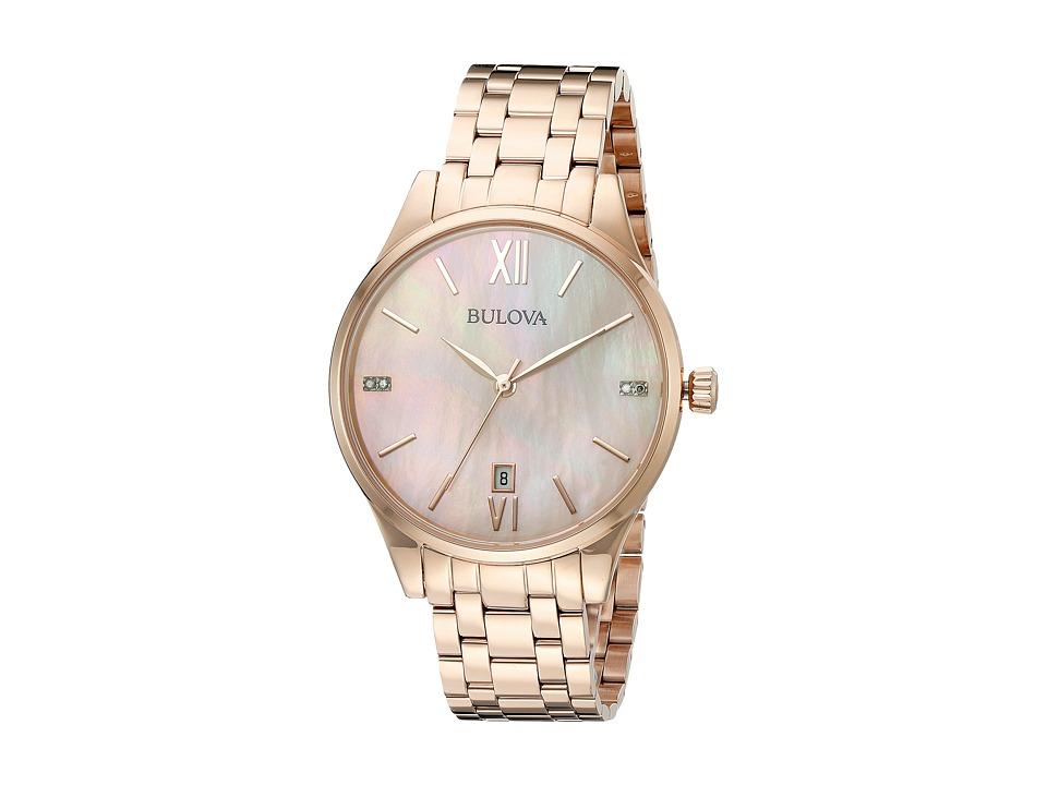 Bulova Diamonds 97P113 Rose Watches