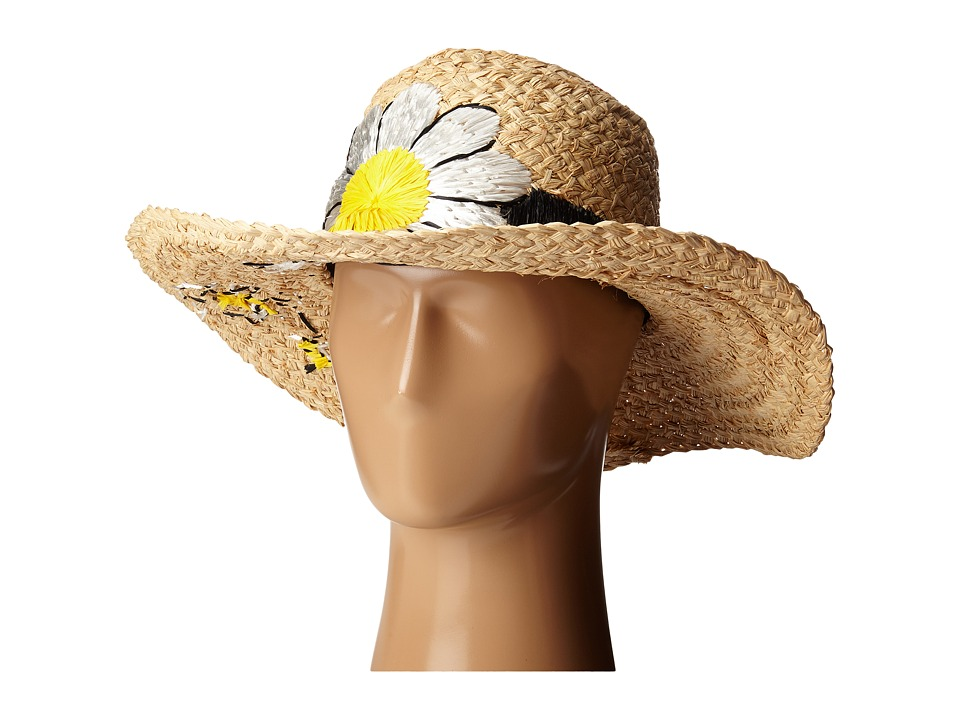 Kate Spade New York Embroidered Daisy Sun Hat Natural Caps