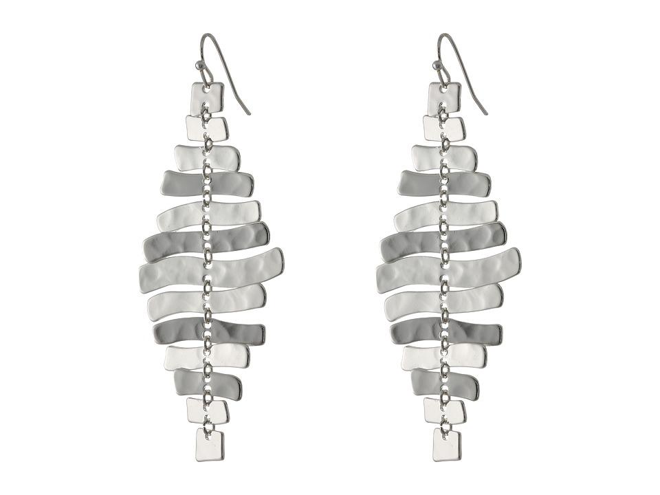Robert Lee Morris Zigzag Chandelier Earrings Silver Earring