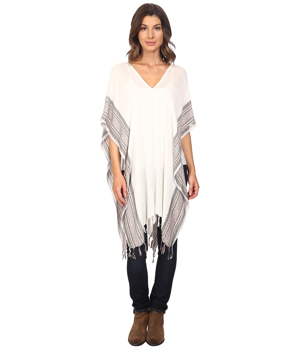 BCBGeneration BFF Woven Border Wrap Cloud Dancer Womens Blouse