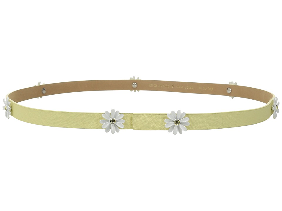 Kate Spade New York 16mm Daisy Studs Belt Lemon Souffle Womens Belts